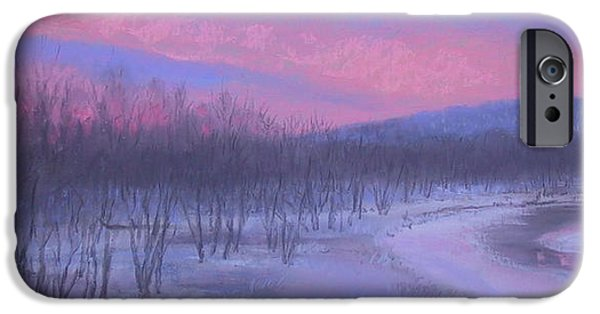 Minnesota Pastels iPhone Cases - Pink Sunrise at Catfish Corner iPhone Case by Sherri Anderson