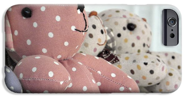 Tripple iPhone Cases - Pink Teddy Bear and Friends iPhone Case by Ian Scholan