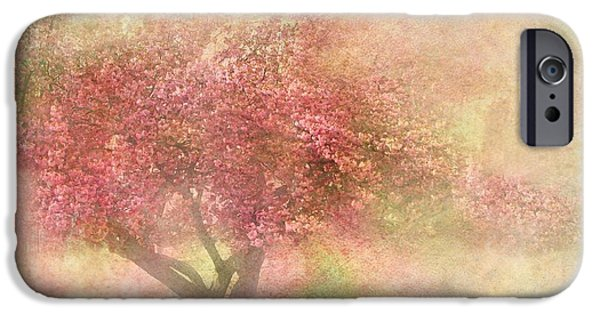 Flora Mixed Media iPhone Cases - Pink Tree iPhone Case by Heike Hultsch