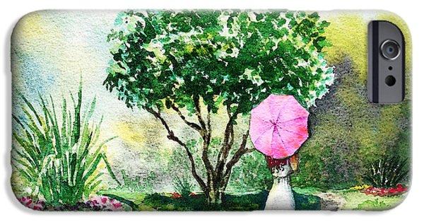 Umbrella iPhone Cases - Pink Umbrella iPhone Case by Irina Sztukowski