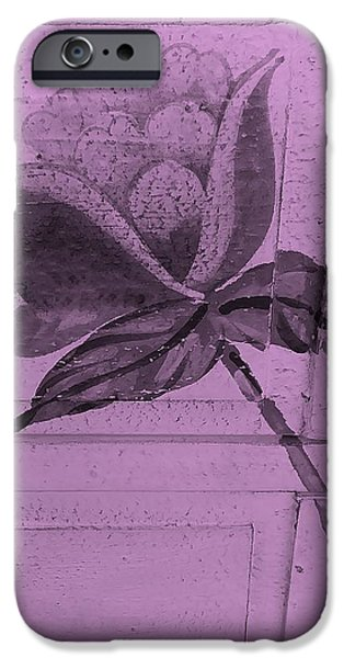 Botanic Illustration Digital Art iPhone Cases - Pink Wood Flower iPhone Case by Rob Hans