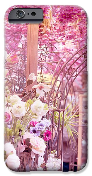 Flower Design Photographs iPhone Cases - Pink World. Amstedam Flower Market iPhone Case by Jenny Rainbow