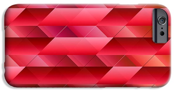 Redish iPhone Cases - Pinkish red abstract iPhone Case by Gaspar Avila