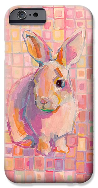 Stripes iPhone Cases - Pinky iPhone Case by Kimberly Santini