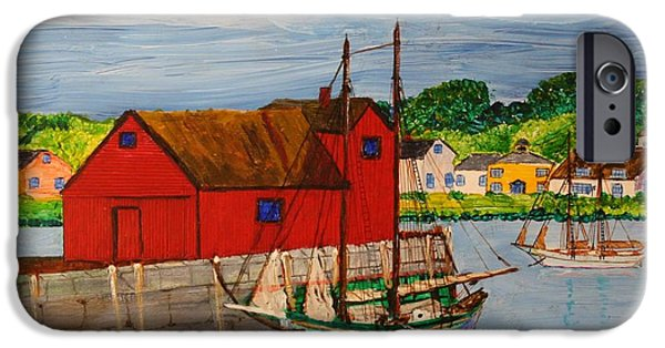 Pinky iPhone Cases - Pinky Schooner Maine at Motif 1 iPhone Case by Bill Hubbard