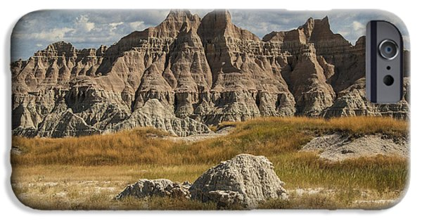 Recently Sold -  - Mounds iPhone Cases - Pinnacles and Spires in the Badlands iPhone Case by Randall Nyhof