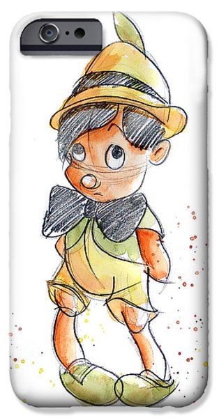 Child iPhone Cases - Pinocchio iPhone Case by Andrew Fling