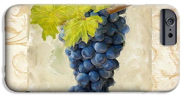 Grape Vineyard iPhone Cases - Pinot Noir iPhone Case by Lourry Legarde