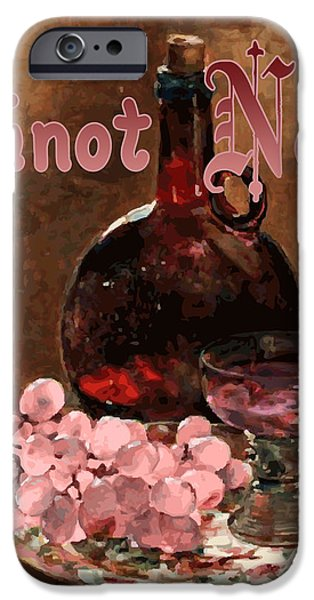 Pinot Noir Vintage Advertisement iPhone Case by
