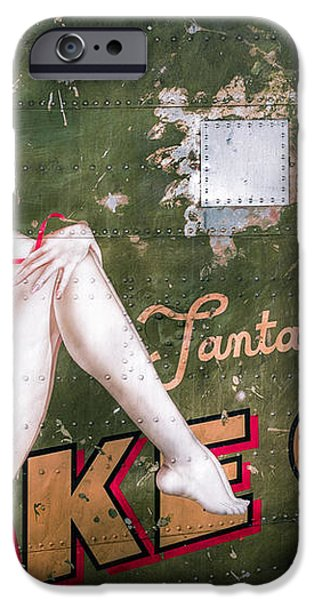 Pinup Girl - Aircraft Nose Art - Take Off Anne iPhone Case by Gary Heller
