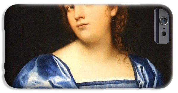 Cora Wandel iPhone Cases - Piombos Portrait Of A Young Woman As A Wise Virgin -- 1 iPhone Case by Cora Wandel