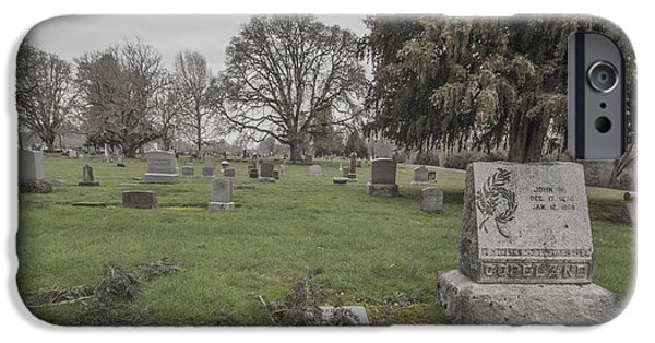Final Resting Place Photographs iPhone Cases - Pioneer Resting Place iPhone Case by Jean Noren