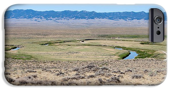 Pioneer Scene iPhone Cases - Pioneer Trail and Sweetwater River in Wyoming iPhone Case by Cindy Singleton