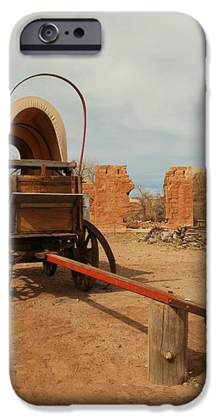 PIONNER WAGON iPhone Case by Jeff  Swan