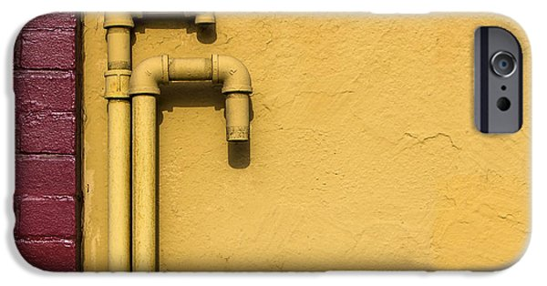 Wall iPhone Cases - Pipe Love iPhone Case by Lee Harland