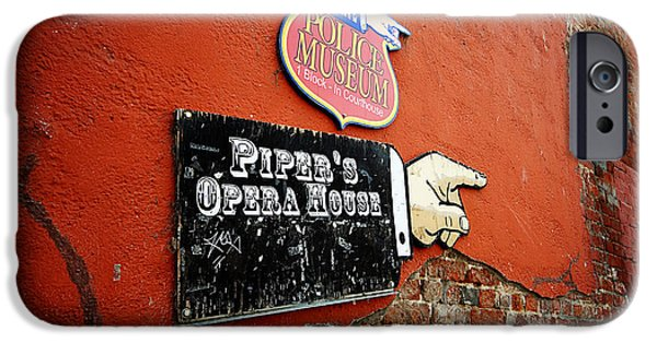 Police Art iPhone Cases - Pipers Opera House iPhone Case by Cheryl Young