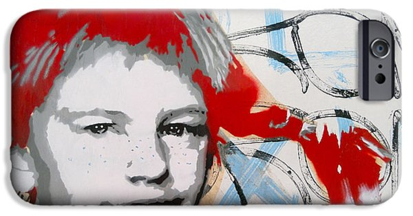Painter Photographs iPhone Cases - Pippi Longstocking  iPhone Case by Juergen Weiss