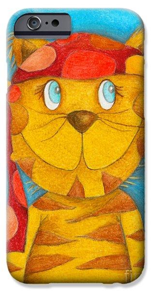 Pirate Cat iPhone Case by Sonja Mengkowski