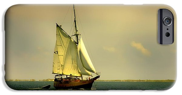Pirate Ship iPhone Cases - Pirate Ship  iPhone Case by Debra Forand
