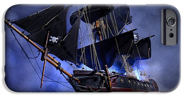 Recently Sold -  - Pirate Ships iPhone Cases - Pirate Ship 2 iPhone Case by Dianne Phelps
