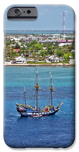 Pirate Ship in Cozumel iPhone Case by Aimee L Maher Photography and Art