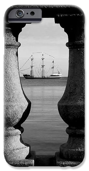Pirate ship on the Bayshore iPhone Case by David Lee Thompson