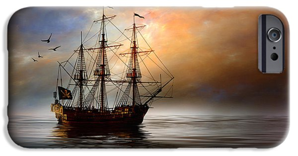 Pirate Ship iPhone Cases - Pirated iPhone Case by Stephen Warren
