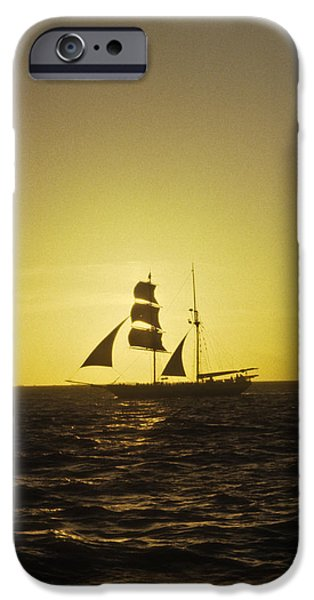 Pirate Ship iPhone Cases - Pirates At Sea - Caribbean iPhone Case by Douglas Barnett