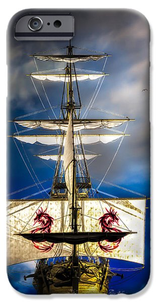 Pirate Ship iPhone Cases - Pirates iPhone Case by Bob Orsillo