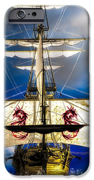 Recently Sold -  - Pirate Ships iPhone Cases - Pirates iPhone Case by Bob Orsillo