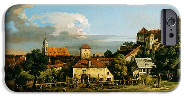 Hofner iPhone Cases - Pirna  The Obertor from the South 1753 1756 or the late 1760s iPhone Case by MotionAge Designs
