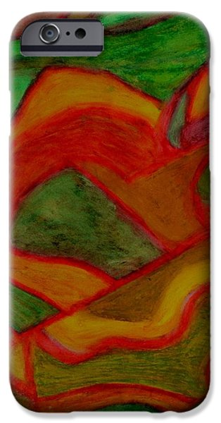Nature Abstracts Pastels iPhone Cases - Pisces iPhone Case by Carla Sa Fernandes
