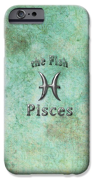 Daysray Photography iPhone Cases - Pisces Feb 19 to March 20 iPhone Case by Fran Riley