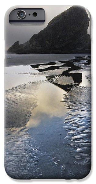 Tidal Creek iPhone Cases - Pistol River iPhone Case by Debra and Dave Vanderlaan