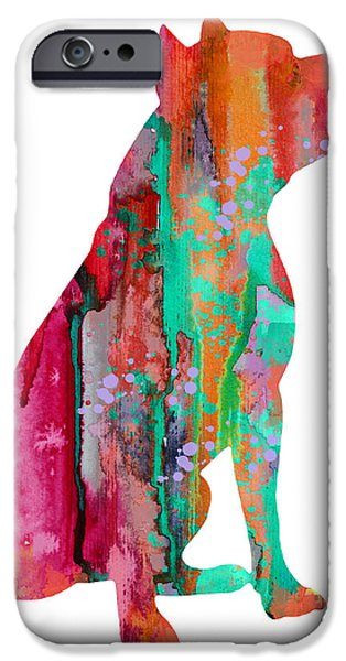 Pit Bull iPhone Cases - Pit Bull 2 iPhone Case by Luke and Slavi