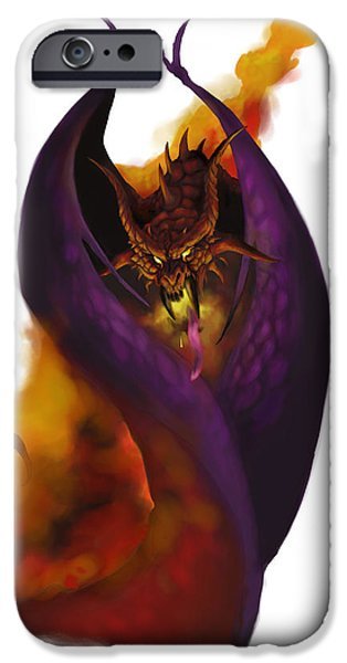 Dungeons iPhone Cases - Pit Fiend iPhone Case by Matt Kedzierski