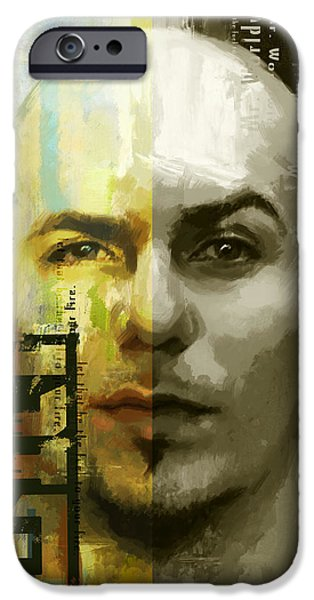 Celebrities Art Paintings iPhone Cases - Pitbull  iPhone Case by Corporate Art Task Force