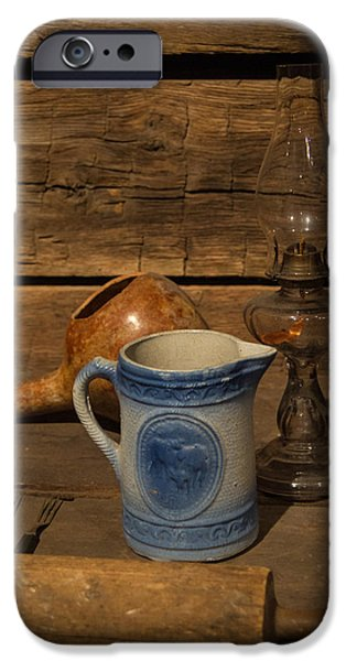 Pitcher Cup and Lamp iPhone Case by Douglas Barnett