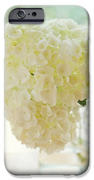 Kaypickens.com iPhone Cases - Pitcher of Hydrangeas iPhone Case by Kay Pickens