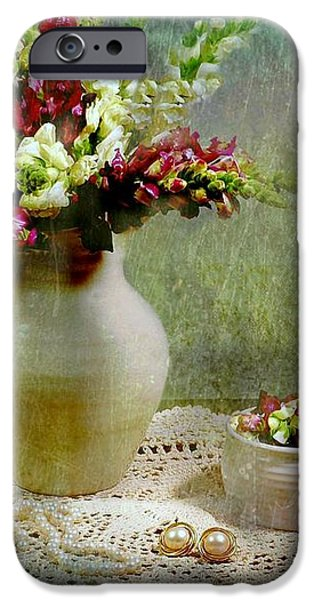 Pitcher of Snapdragons iPhone Case by Diana Angstadt