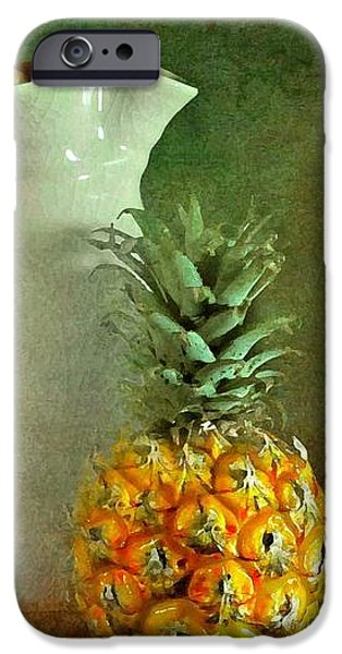 Pitcher with Pineapples iPhone Case by Diana Angstadt