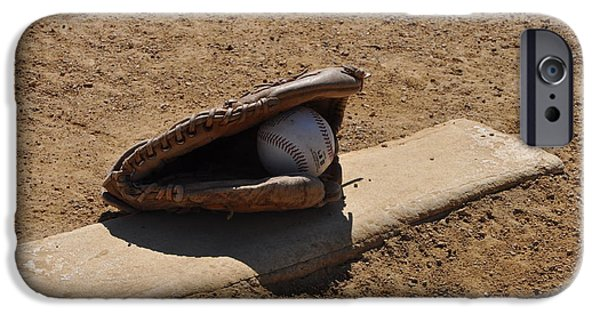 Baseball Glove iPhone Cases - Pitchers Mound iPhone Case by Bill Cannon