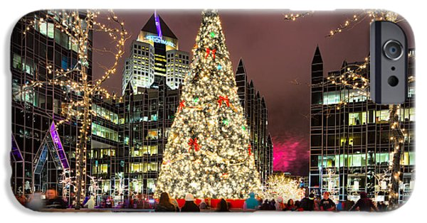 Heinz Field iPhone Cases - Pittsburgh Holiday season 2 iPhone Case by Emmanuel Panagiotakis