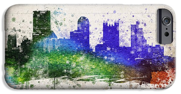 Pittsburgh iPhone Cases - Pittsburgh in Color iPhone Case by Aged Pixel