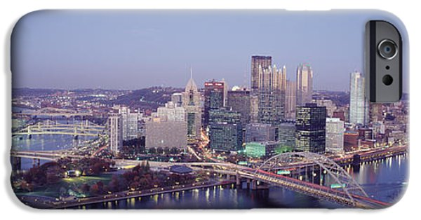 Finance iPhone Cases - Pittsburgh Pa iPhone Case by Panoramic Images
