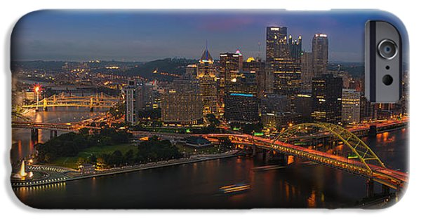 Three iPhone Cases - Pittsburgh PA iPhone Case by Steve Gadomski