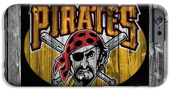 Mlb Mixed Media iPhone Cases - Pittsburgh Pirates Barn Door iPhone Case by Dan Sproul
