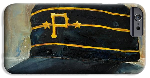Baseball Art Paintings iPhone Cases - Pittsburgh Pirates iPhone Case by Lindsay Frost