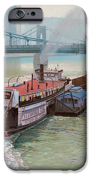 Pittsburgh River Boat-1948 iPhone Case by Paul Krapf