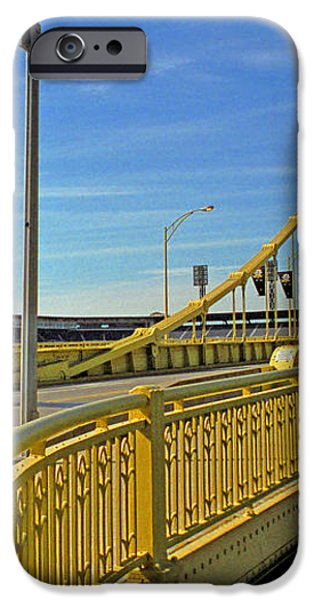 Pittsburgh - Roberto Clemente Bridge iPhone Case by Frank Romeo